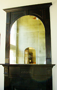 Antiqued Mirror Glass Atlanta - Residential - Wall Panel Fire Place
