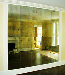 Antiqued Mirror Glass Atlanta - Residential - Wall Panel Square
