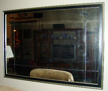Antiqued Mirror Glass Atlanta - Framed
