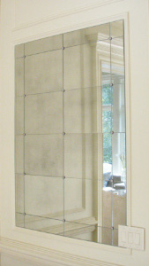 Antiqued Mirror Glass Atlanta - Residential - Wall Hung Inset