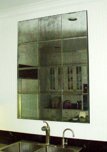 Antiqued Mirror Glass Atlanta - Residential - Wall Hung Panels