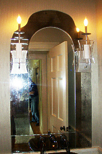 Antiqued Mirror Glass Atlanta - Residential - Wall Hung
