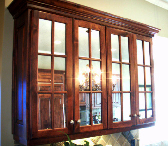 Antiqued Mirror Glass Atlanta - Residential - Cabinet Mirror
